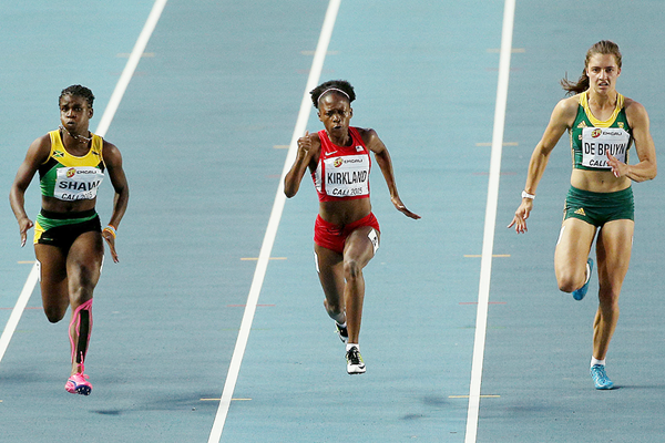 Jayla Kirkland in the 100m at the IAAF World Youth Championships Cali 2015 (Getty Images)