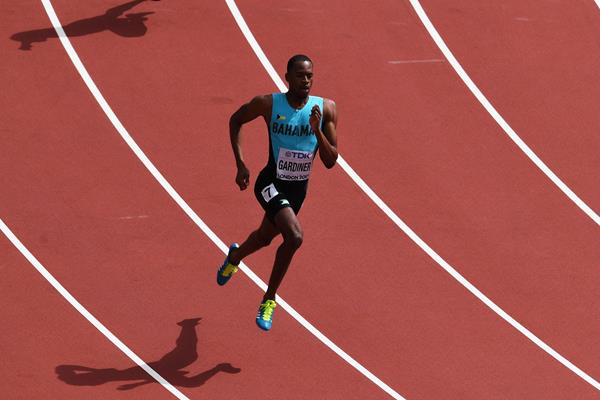 Steven Gardiner of the Bahamas in action over 400m at the IAAF World Championships London 2017 (Getty)