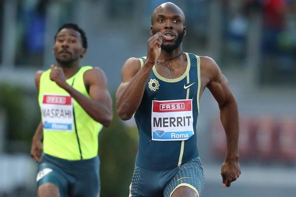 LaShawn Merritt wins the 400m at the IAAF Diamond League meeting in Rome (Gladys Chai von der Laage)