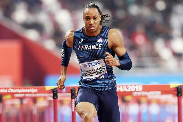 Pascal Martinot-Lagarde in the 110m hurdles at the IAAF World Athletics Championships Doha 2019 (Getty Images)