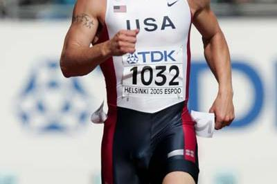 Paul Terek of the USA in the Decathlon's 100m (Getty Images)
