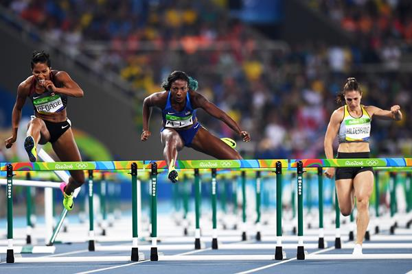 Nia Ali in the 100m hurdles at the Rio 2016 Olympic Games (Getty Images)