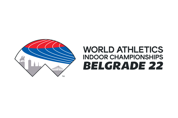 World Athletics Indoor Championships Belgrade 22 logo (World Athletics)