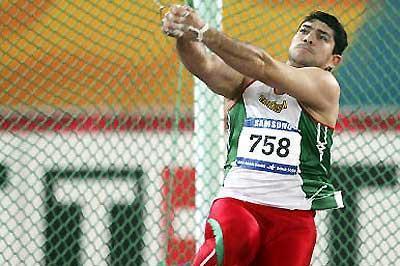 Dilshod Nazarov of Tajikistan, men's hammer winner at the Asian Games (Getty Images)