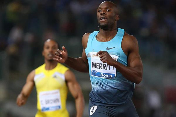 LaShawn Merritt at the 2013 IAAF Diamond League in Rome (Giancarlo Colombo)
