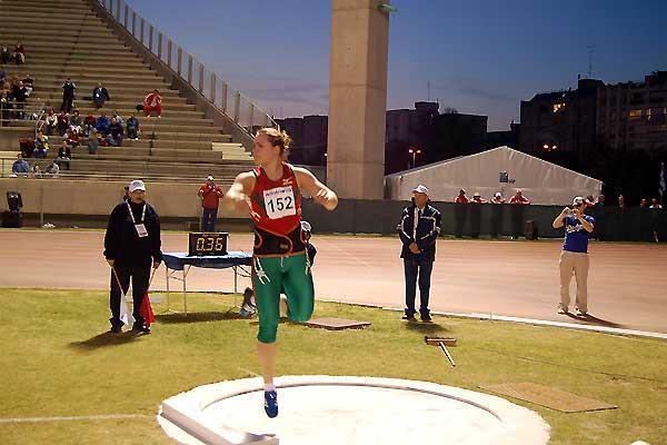 Natallia Khoroneko of  Belarus in Tel Aviv (EAA/loc)