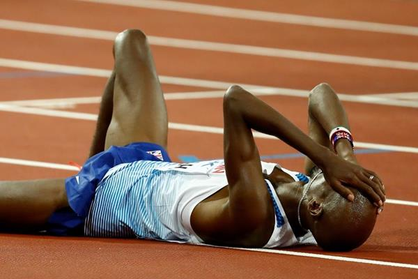 Mo Farah after the 5000m at the IAAF World Championships London 2017 (Getty Images)