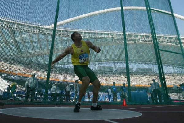 Virgilijus Alekna (LIT) in the men's Discus Throw (Getty Images)