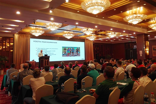 Tim Berrett at the IAAF Race Walking Seminar in Taicang (IAAF Race Walking Committee)