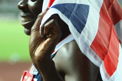 Christine Ohuruogu of Great Britain celebrates winning the 400m final (Getty Images)