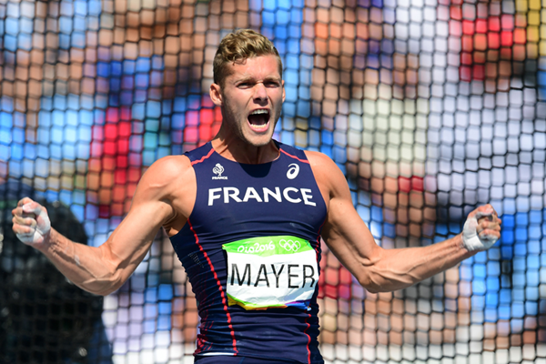 Kevin Mayer in the decathlon discus at the Rio 2016 Olympic Games (AFP / Getty Images)