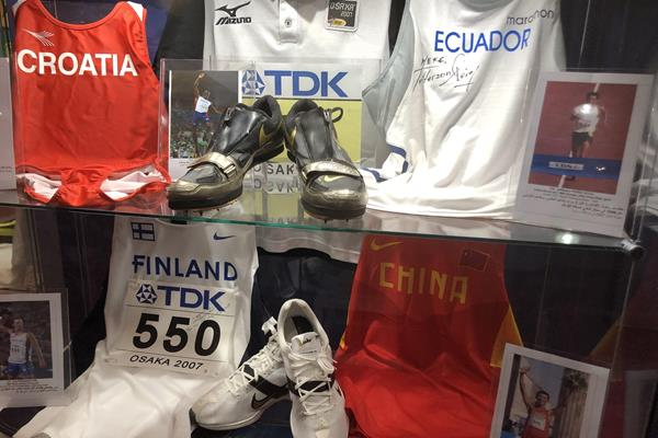 Display at the IAAF Heritage Exhibition in Doha (IAAF)