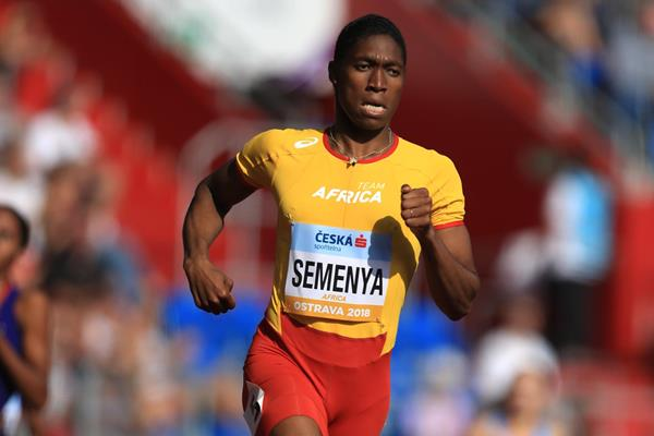 Caster Semenya en route to the Continental Cup 800m title (Getty Images)