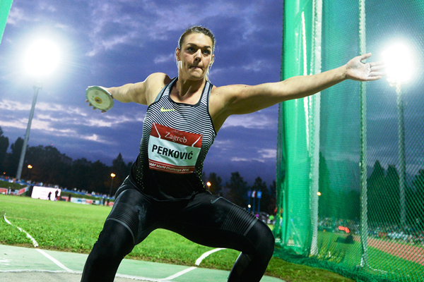 Sandra Perkovic in the discus at the IAAF World Challenge meeting in Zagreb (Organisers)
