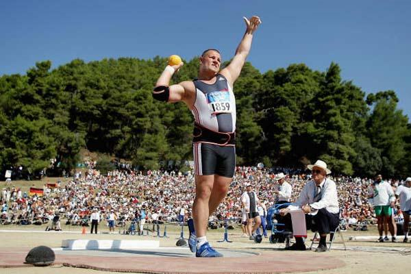 Ralf Bartels of Germany in action in the Shot Put competition in Olympia (Getty Images)