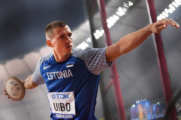 Maicel Uibo in the decathlon discus at the IAAF World Athletics Championships Doha 2019 (AFP / Getty Images)
