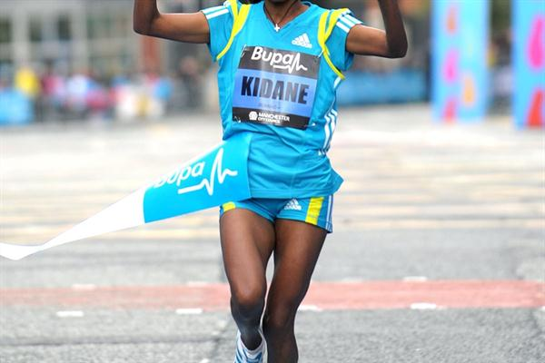 Worknesh Kidane scores an impressive win in Manchester 10Km (Mark Shearman)