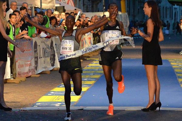 Abdallah Mande winning the 2016 Giro Al Sas in Trento (Organisers)