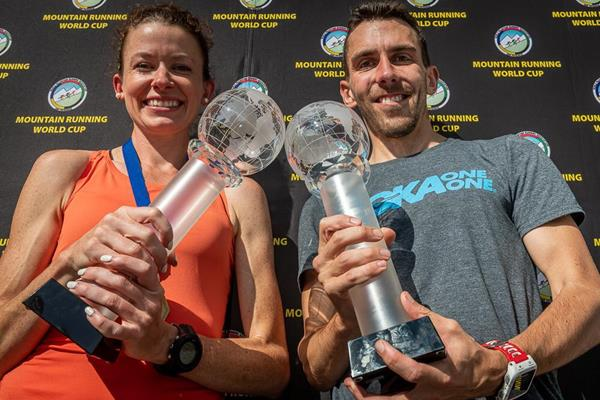 2019 WMRA World Cup winners Sarah McCormack and Andrew Douglas (Marco Gulberti/WMRA)