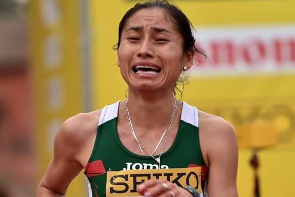 Maria Guadalupe Gonzalez takes silver in the women's 20km at the IAAF World Race Walking Team Championships Rome 2016 (Getty Images)