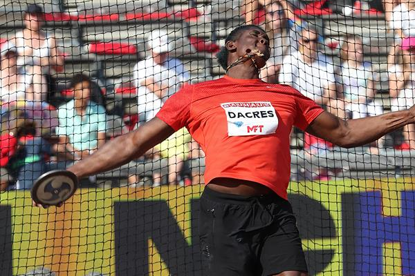 Fedrick Dacres unleashes a national record in Stockholm (Giancarlo Colombo)