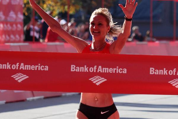 Another Russian record for Liliya Shobukhova in Chicago, this time 2:18:20 (Getty Images)