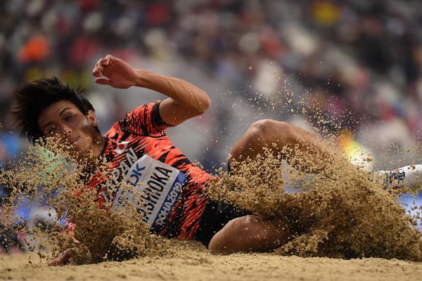Japanese long jumper Yuki Hashioka (AFP/Getty Images)