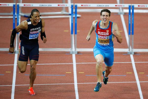 Sergey Shubenkov wins the European 110m hurdles title (Getty Images)