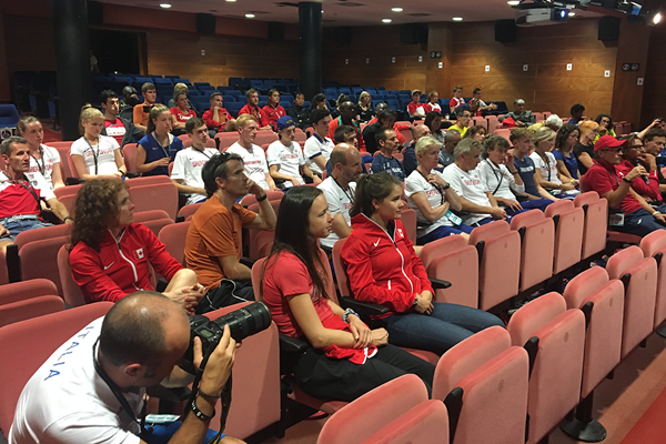 Attendees at the IAAF/WMRA Coaches Conference in Canillo (Organisers)