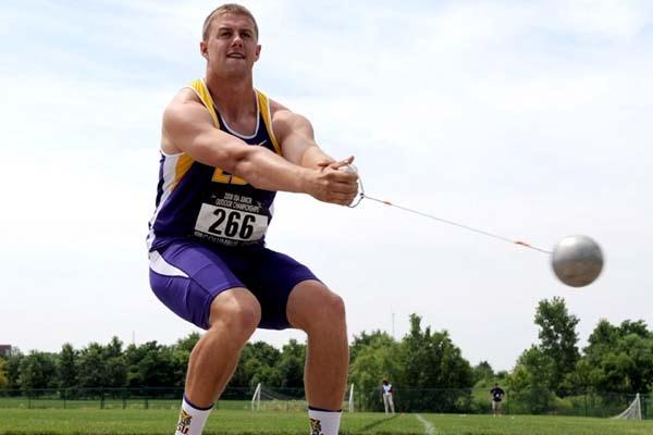 Walter Henning at the 2008 USATF Jnr Champs in Columbus (Kirby Lee)