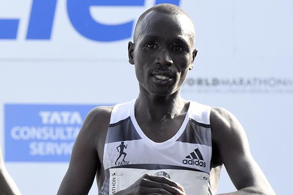 Emmanuel Mutai after finishing the Berlin Marathon (AFP / Getty Images)