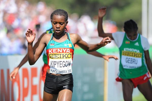 Faith Kipyegon, winner of the junior women's title in Punta Umbria (Getty Images)