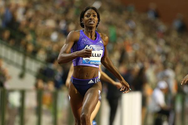 Shaunae Miller at the 2015 IAAF Diamond League final in Brussels (Giancarlo Colombo)