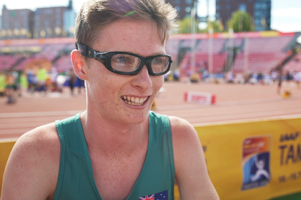 Jaryd Clifford after his 1500m heat at the IAAF World U20 Championships Tampere 2018 (Dan Vernon)