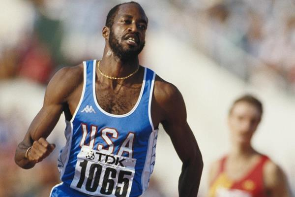 Edwin Moses at the 1987 World Championships in Rome (Getty Images)