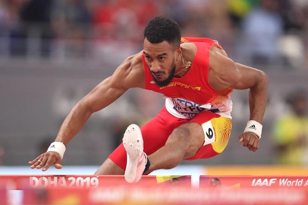 Orlando Ortega in the 110m hurdles at the IAAF World Athletics Championships Doha 2019 (Getty Images)