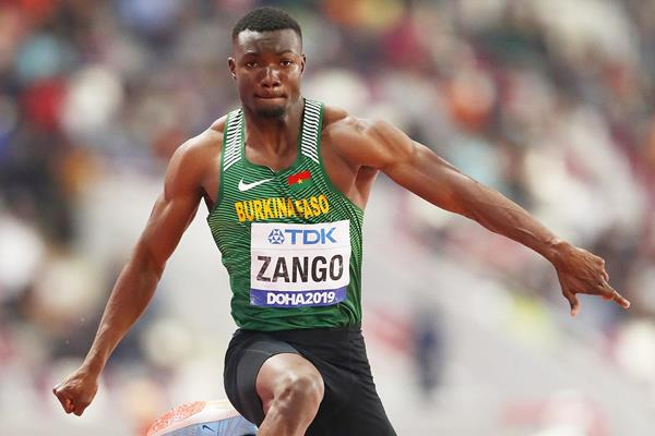 Hugues Fabrice Zango in the triple jump at the IAAF World Athletics Championships Doha 2019 (Getty Images)