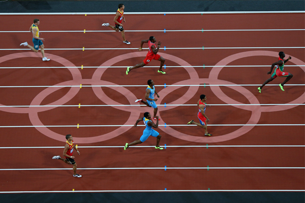 Kirani James on his way to winning the 400m at the London 2012 Olympic Games (Getty Images)