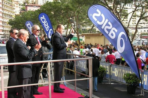 HSH Prince Albert II of Monaco, a special guest starter for the 2008 Monaco Marathon (Monaco Marathon)
