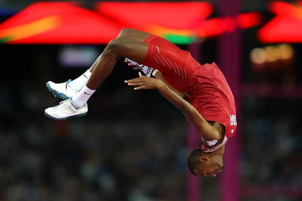 Mutaz Essa Barshim celebrates his high jump victory at the IAAF World Championships London 2017 (Getty Images)