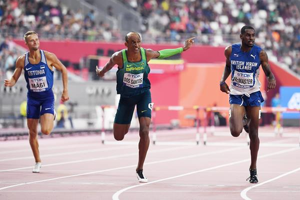 Alison dos Santos at the IAAF World Athletics Championships Doha 2019 (AFP / Getty Images)