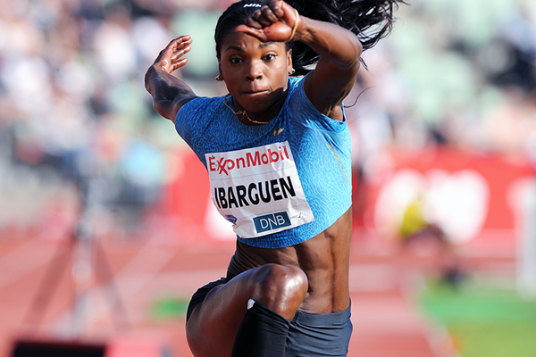Caterine Ibarguen, winner of the triple jump at the IAAF Diamond League meeting in Oslo (Mark Shearman)
