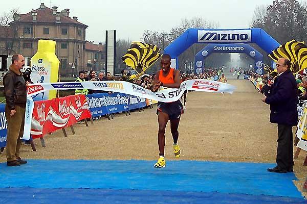 Philip Sanga wins the 10km in Turin (c)