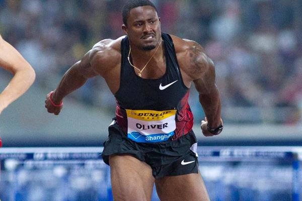 David Oliver in action at the Diamond League meeting in Shanghai (Errol Anderson)