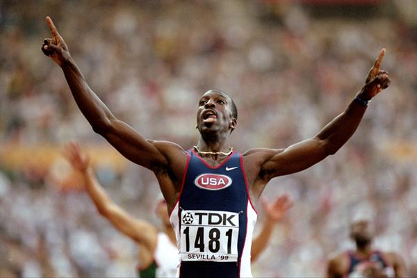 200 and 400m star Michael Johnson ()