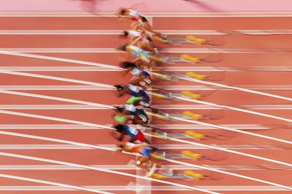 Steven Gardiner in the 400m at the IAAF World Championships (AFP / Getty Images)