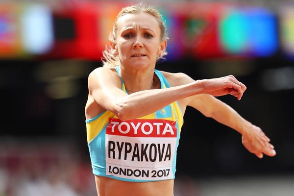 Olga Rypakova in the triple jump at the IAAF World Championships London 2017 (Getty Images)