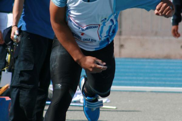 Braian Toledo winning the South American Youth Championships (Oscar Muñoz/Fedachi)