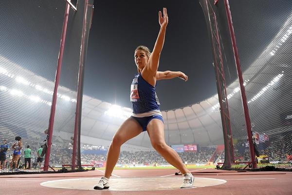 Sandra Perkovic at the IAAF World Athletics Championships Doha 2019 (Getty Images)