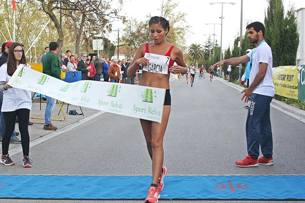 Kimberley Garcia wins the 20km at the IAAF Race Walking Challenge meeting in Rio Maior (Organisers)